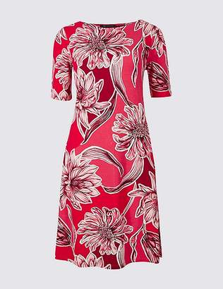 Marks and Spencer Floral Print Half Sleeve Swing Dress