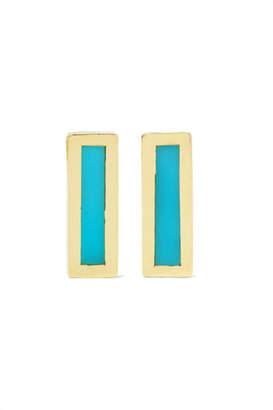 Jennifer Meyer 18-karat Gold Turquoise Earrings