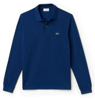 Lacoste LONG SLEEVE CLASSIC FIT POLO in Blue