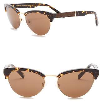 Shwood Hayden 53mm Clubmaster Sunglasses