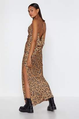Nasty Gal Lemme Cowl Back to You Leopard Dress