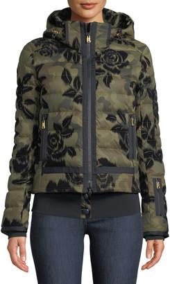 Bogner Muriel Camo & Floral-Print Jacket w/ Removable Hood