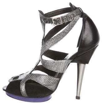 Barbara Bui Snakeskin & Suede Sandals