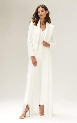 Savannah Miller Eve Cropped Jacket With Satin Lapels And Detachable Skirt