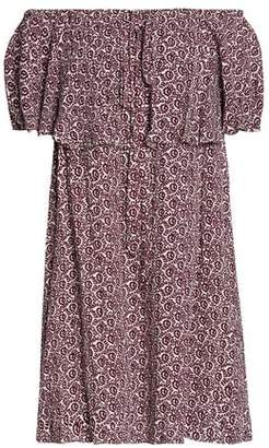 Rebecca Minkoff Printed Crepe Mini Dress