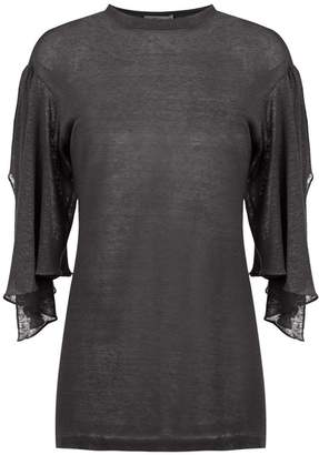 Sissa 7/8 cut out sleeves blouse