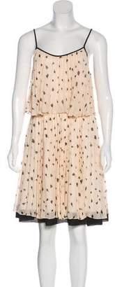 Halston Tiered Mini Dress