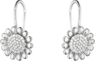 Georg Jensen Sunflower sterling silver and diamond earrings