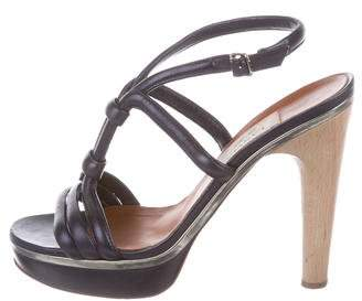 Lanvin Leather Slingback Sandals