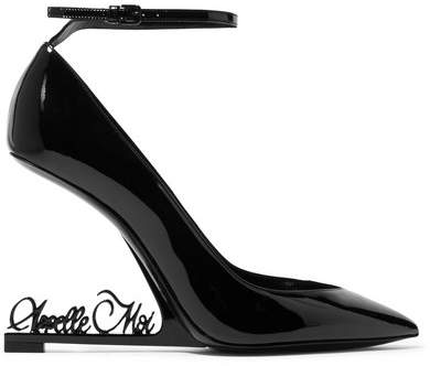 Saint Laurent - Opyum Patent-leather Pumps - Black