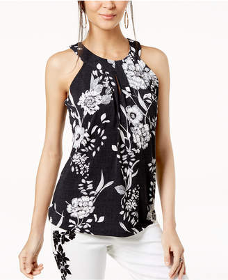 INC International Concepts I.n.c. Floral Halter Top