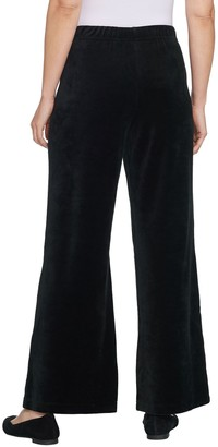 Factory Quacker Short Pull-On Wide Leg Velour Pants