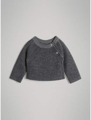 Burberry Rib Knit Merino Wool Sweater