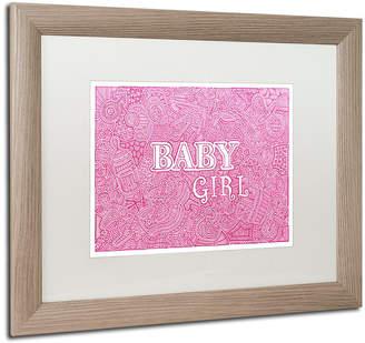 Trademark Global Viz Art Ink 'Baby Girl' Matted Framed Art