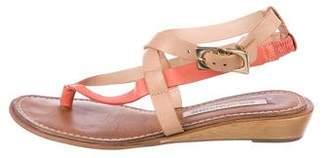 Diane von Furstenberg Leather Multistrap Sandals
