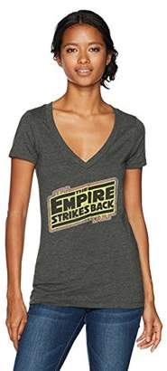 Star Wars Women's Empire Strikes Back Logo V-Neck Graphic T-Shirt