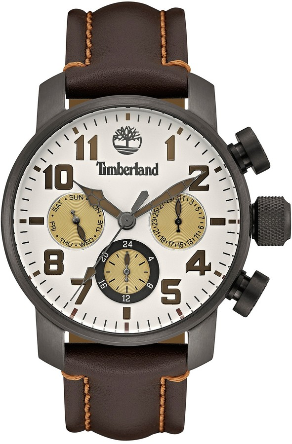 Timberland Timberland Men's New Market Leather Strap Watch