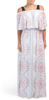 Off The Shoulder Cover-up Maxi Dress