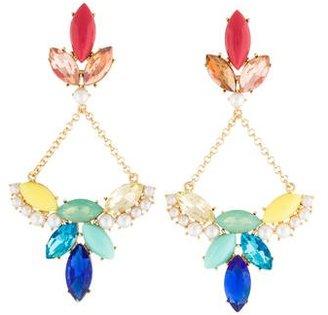Lulu Frost Faux Pearl & Crystal Drop Earrings $75 thestylecure.com