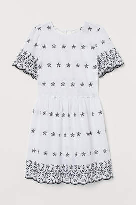 cb22797ae H&M Dress with Eyelet Embroidery - White