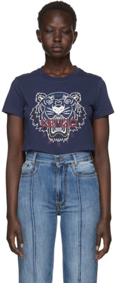 Kenzo Navy Limited Edition Bleached Tiger T-Shirt