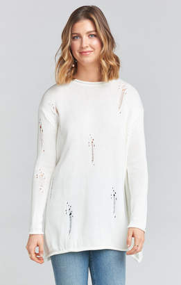 Show Me Your Mumu Overtop Scoop Neck Sweater ~ Eyelet Ice Knit