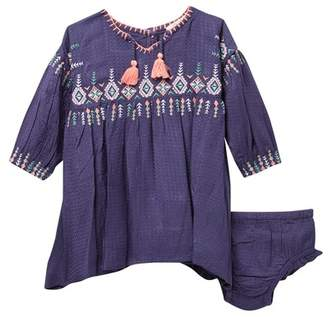 Jessica Simpson Long Sleeve Embroidered Dress (Baby Girls)