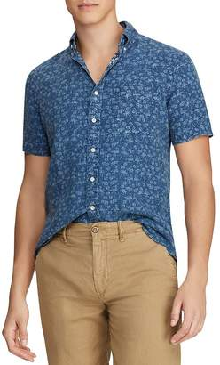 3212ab7fc93950 Polo Ralph Lauren Tropical-Print Linen Classic Fit Button-Down Shirt - 100%