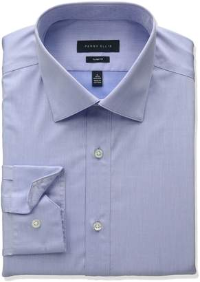 Perry Ellis Collection Men's Slim Fit Solid Non-Iron Dress Shirt