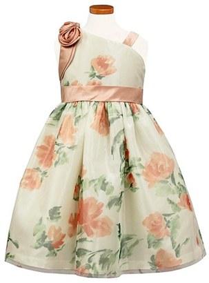 Girl's Sorbet Floral Mesh One-Shoulder Dress $72 thestylecure.com