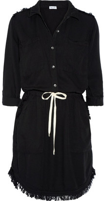 Splendid - Frayed Voile Dress - Black $220 thestylecure.com