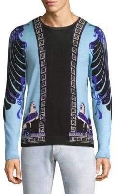 Versace Printed Crewneck Sweater