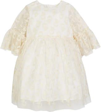 Charabia 3\/4-Sleeve Lace Dress Size 5-8