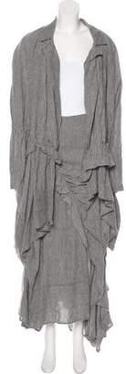 Ivan Grundahl Gathered Linen Skirt Suit w/ Tags