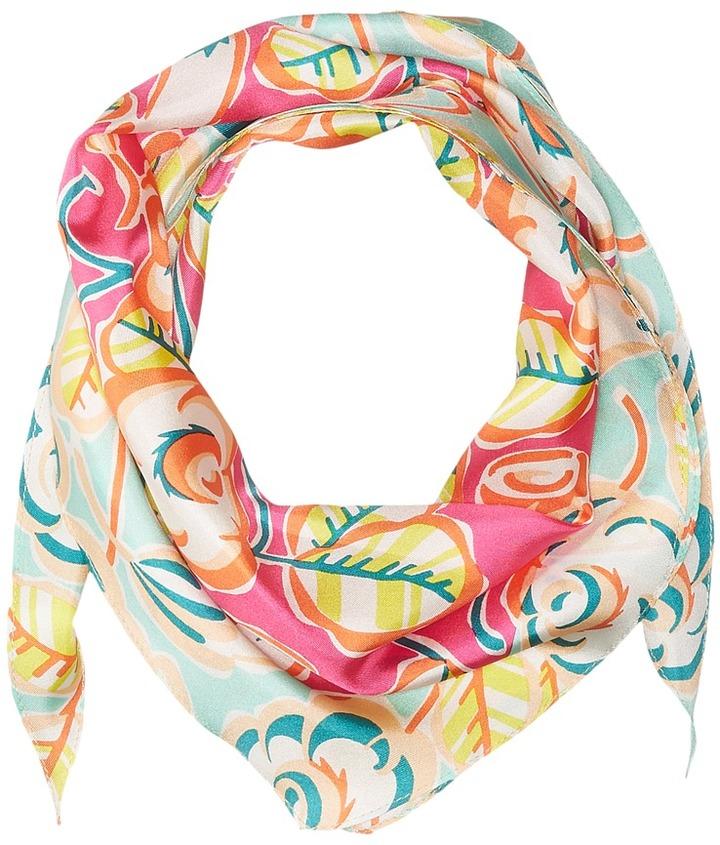Echo Design - Sketchy Floral Silk Diamond Scarf Scarves