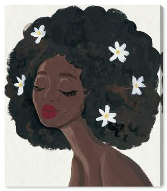 """Oliver Gal Gallery Flowers in My Hair Canvas Print - 17\""""x20\"""""""