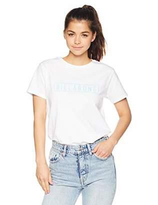 Billabong (ビラボン) - [ビラボン] [レディース] 半袖 プリント Tシャツ (テイラードFIT)[ AJ013-214 / SS LOGO TEE ] おしゃれ ロゴ WHT_ホワイト US M (日本サイズM相当)