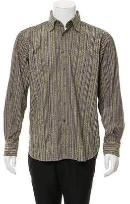 Etro Textured Button- Up Top
