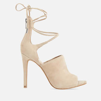 KENDALL + KYLIE Women's Estella Suede Strappy Heeled Sandals - Sand