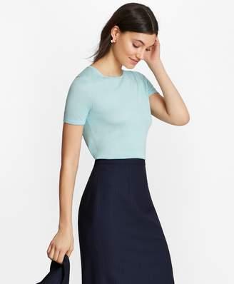 Brooks Brothers Silk-Blend Short-Sleeve Sweater