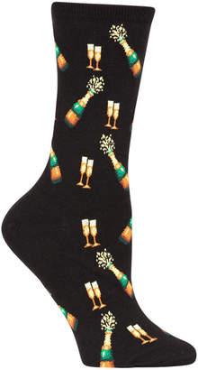 Hot Sox Women's New Year Champagne Bottles Socks