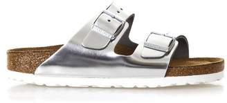 Birkenstock Metallic Silver Arizona Sandals
