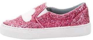 Chiara Ferragni Glitter Flirting Slip-On Sneakers