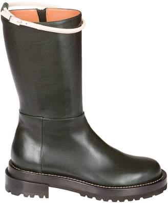 Marni Contrast Buckle Boots