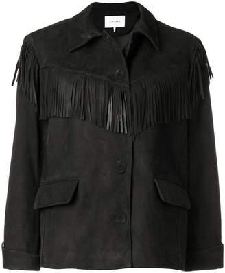 Frame fringe button jacket