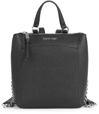 Calvin Klein Walnut Leather Backpack
