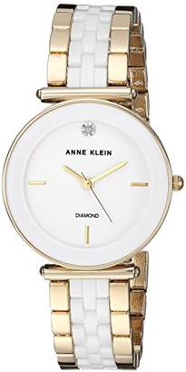 Anne Klein Women's Quartz Metal and Ceramic Dress Watch
