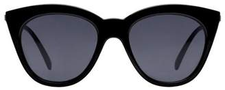 Le Specs HALFMOON MAGIC SUNGLASSES - BLACK SMOKE MONO