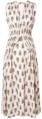 Emilia Wickstead rose print midi dress