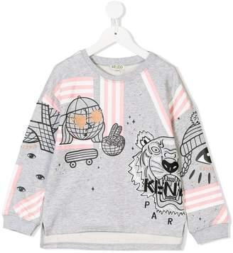Kenzo multiple printed sweatshirt